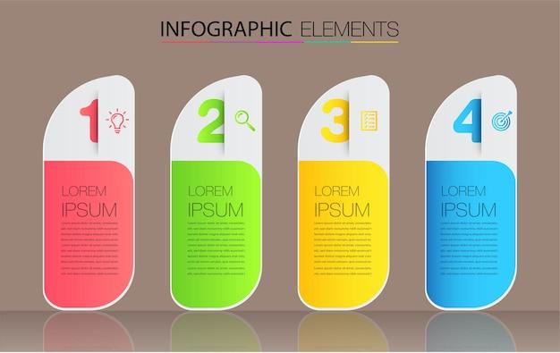 Modern text box template infographics