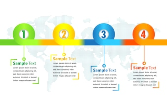 Modern text box template, timeline banner Infographics