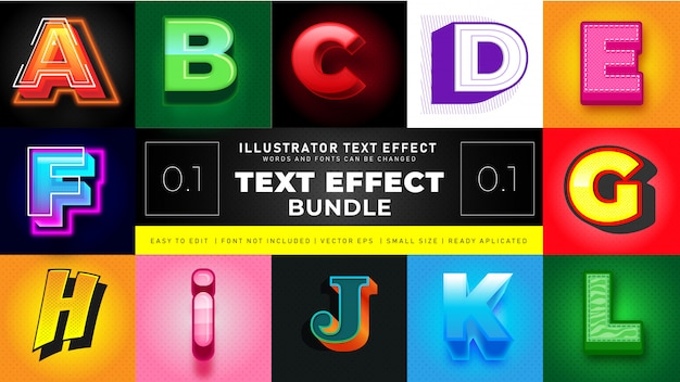 Modern text effect bundle 1