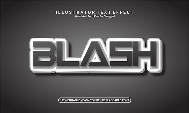モダンなテキスト効果のデザイン、ブラッシュ