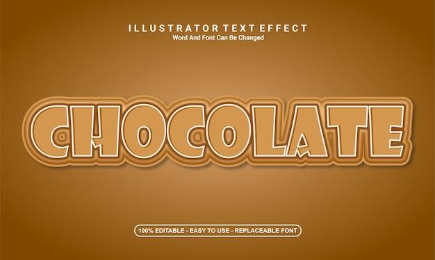 Шоколад дизайн современный текстовый эффект