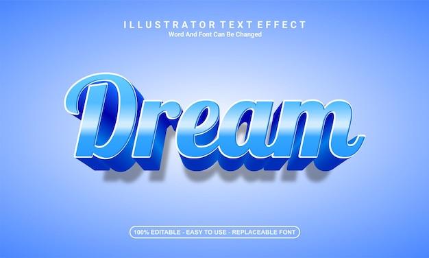 現代のテキスト効果デザインの夢