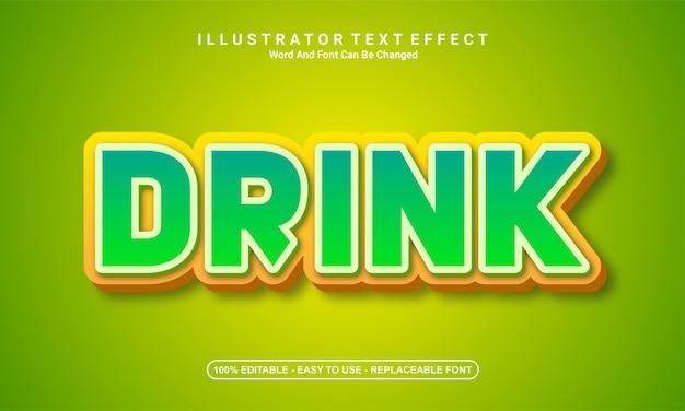 Modern text effect design drink
