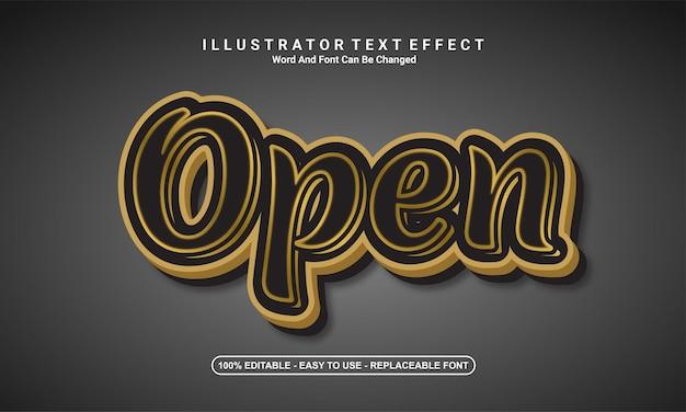 Modern text effect design, open