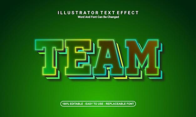 現代のテキスト効果デザイン、チーム