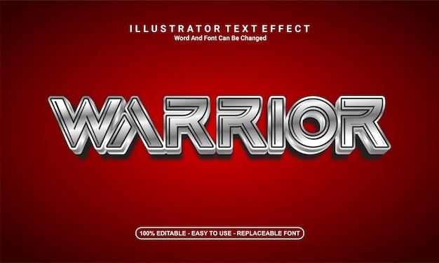 現代のテキスト効果のデザイン、戦士