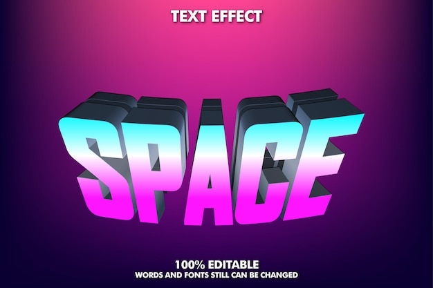 Modern text effect for modern culture