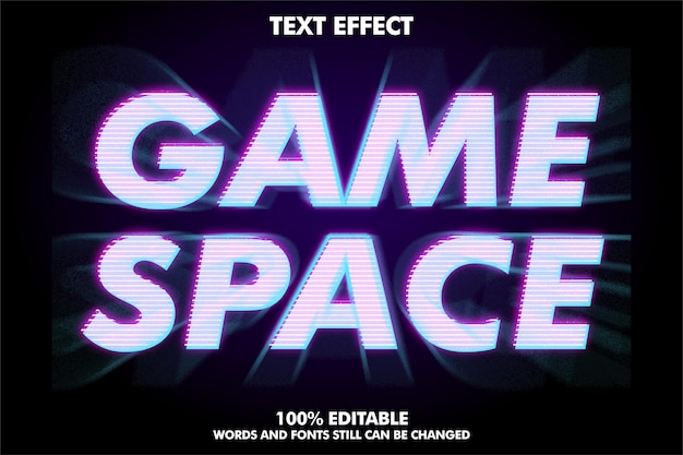 Modern text effect with zoom effect