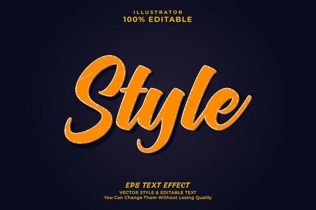 Modern text effect