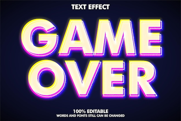 Modern text style editable glitch text effect