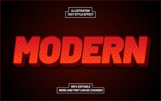 Modern text style effect