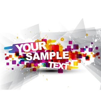 Modern text template