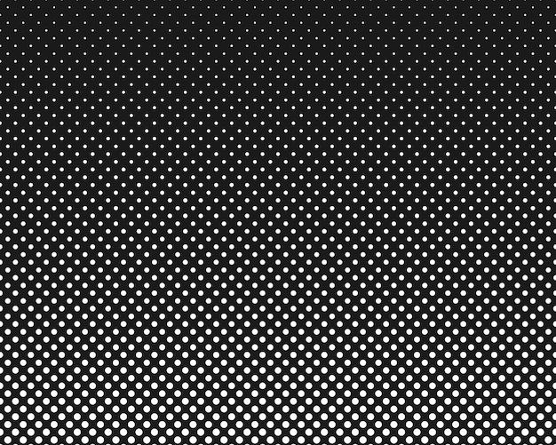 현대 텍스처 폴카 도트 스타일 텍스처 도트와 원이 있는 흑백 패턴