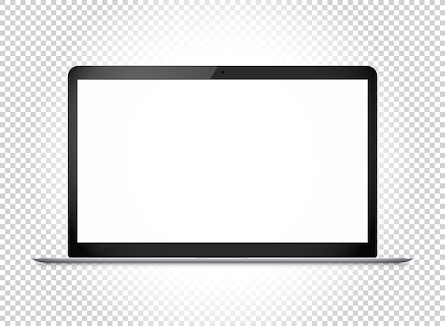 Modern thin laptop with wide screen.