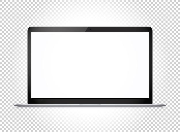 와이드 스크린의 현대적인 얇은 노트북