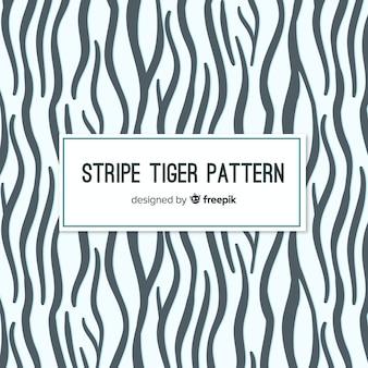 Modern tiger skin pattern