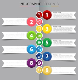 Modern timeline text box template infographics banner
