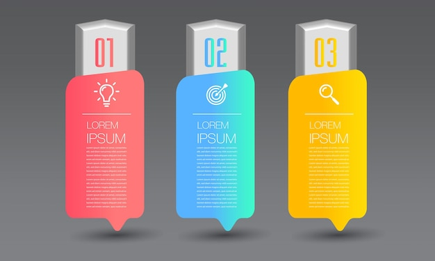 Modern timeline text box template infographics