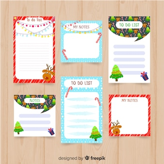 Modern to do list collection with christmas style