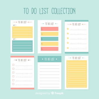 Современная коллекция списка с ярким стилем