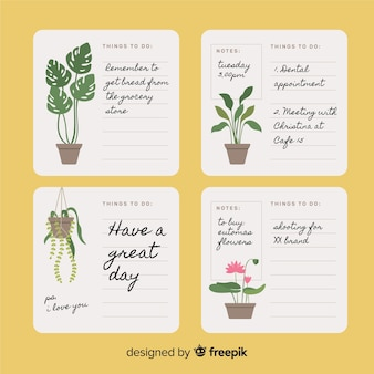Modern to do list collection with plants