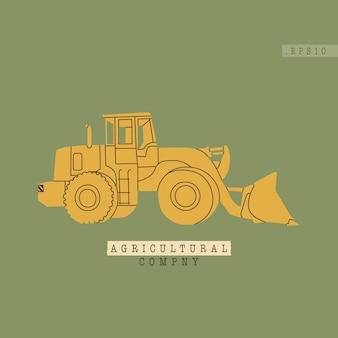 現代のトラクターまたはハーベスター農業産業複合施設の設備のモデルが関連している