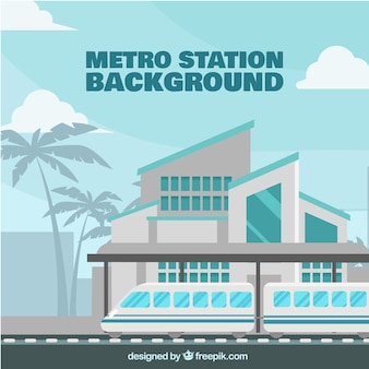 Modern train station background