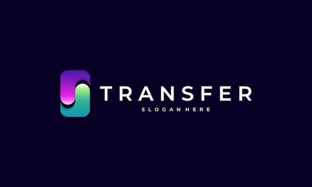 Modern transfer logo template Premium Vector