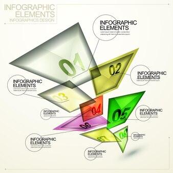 현대 반투명 추상 사각형 태그 infographic 요소