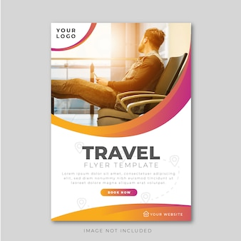 Modern travel flyer design template