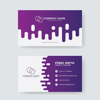 Modern trendy business card