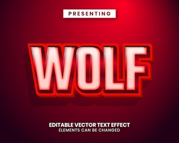 Modern trendy editable text effect