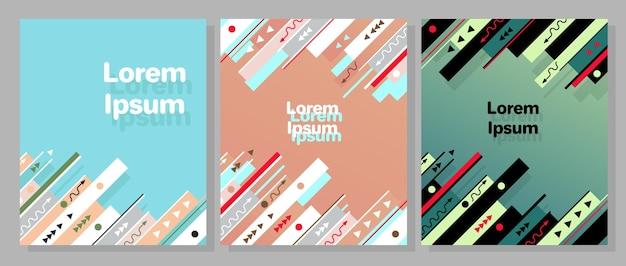 Modern trendy graphic design template set vector illustration