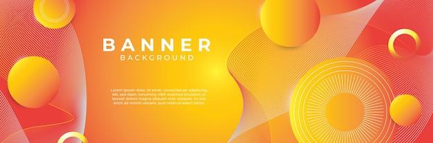 현대 유행 오렌지 추상 배너 배경 벡터입니다. 유체 그라데이션 모양 구성입니다. 미래 지향적인 디자인 포스터입니다.