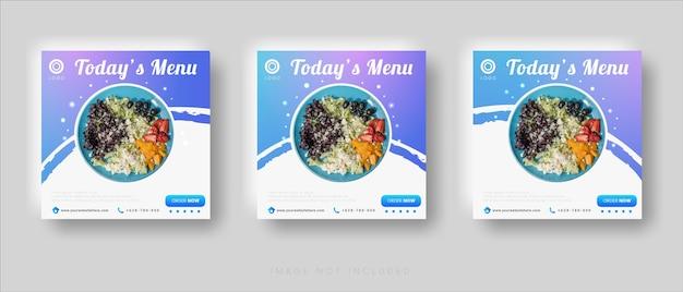 Современный модный шаблон поста продажи еды в социальных сетях