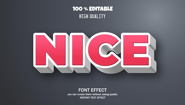 Modern and trendy text effect