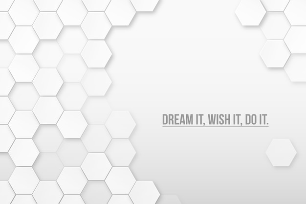 Modern triangle background with quote