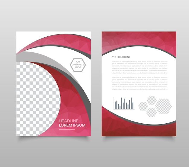 Modern triangle presentation template.