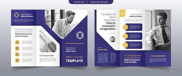 Modern trifold business brochure template