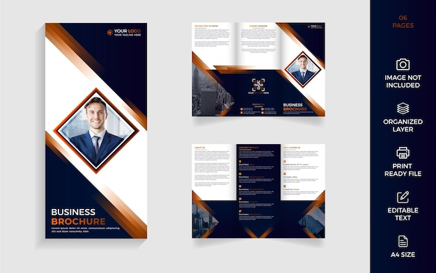 Modern trifold corporate business brochure design