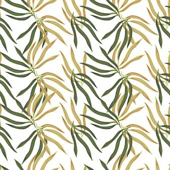 現代の熱帯の葉は無意味なパターンです。夏の熱帯の葉。エキゾチックなハワイの壁紙。