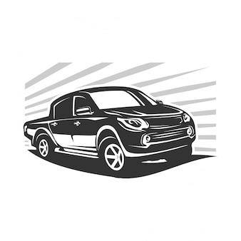 Modern truck logo vector