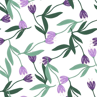 Modern tulip seamless pattern isolated on white background.