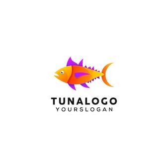 Modern tuna colorful logo design template