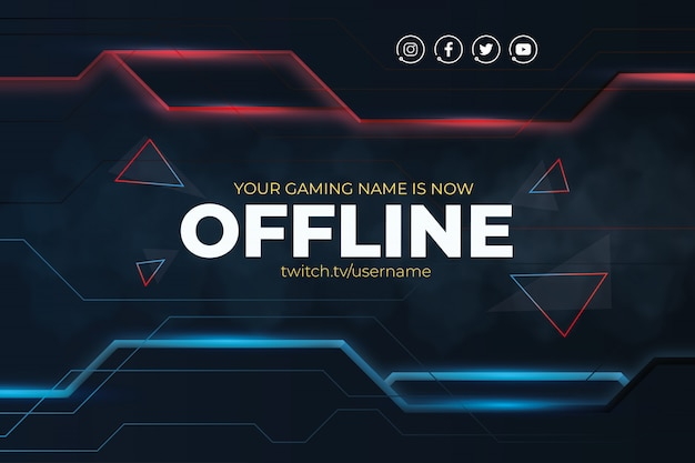 Modern twitch background with abstract lines