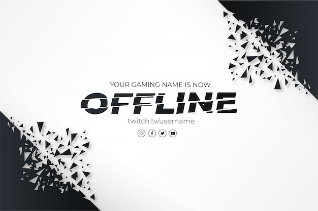 Modern twitch banner with broken