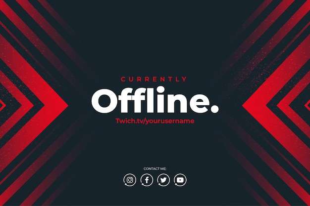 Modern twitch currently offline background
