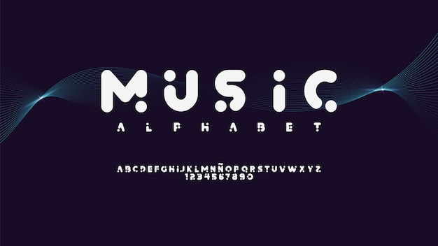 Modern typeface with musical style