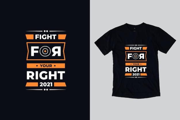 현대 타이포그래피 영감 따옴표 t 셔츠 디자인