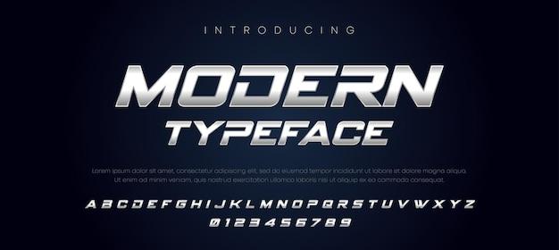 현대 타이포그래피 기울임 꼴 알파벳 글꼴 세트